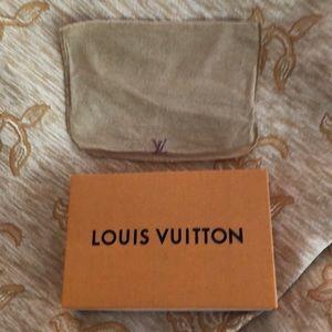 MINT CONDITION LOUIS VUITTON BOX Suede Dust bag.